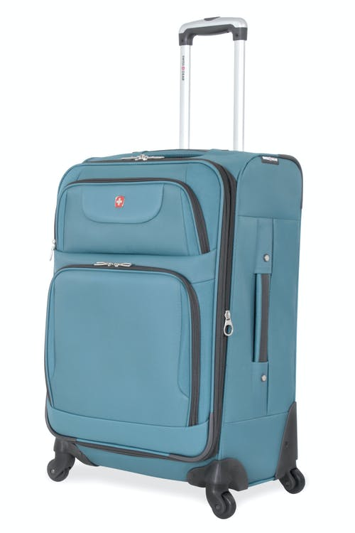 "SWISSGEAR 7297 24"" EXPANDABLE SPINNER LUGGAGE - TEAL"