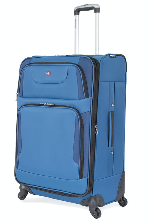 "SWISSGEAR 7297 28"" EXPANDABLE SPINNER LUGGAGE - BLUE"