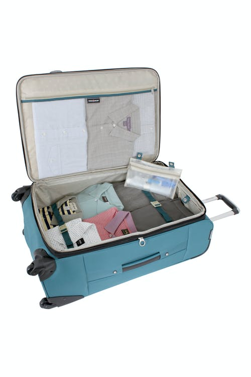 """SWISSGEAR 7297 28"""" EXPANDABLE SPINNER LUGGAGE ADJUSTABLE TIE-DOWN STRAPS"""