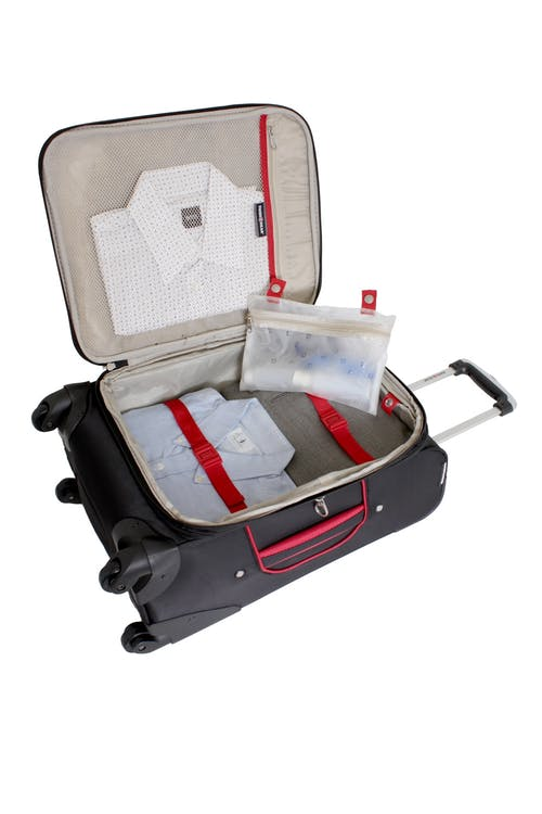 """SWISSGEAR 7317 20"""" EXPANDABLE CARRY-ON SPINNER LUGGAGE ADJUSTABLE CLOTHING TIE-DOWN STRAPS"""