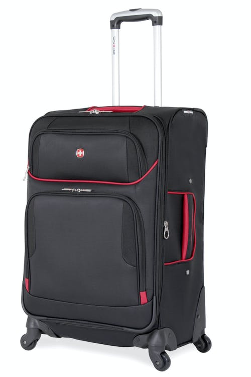 "SWISSGEAR 7317 24"" Expandable Spinner - Black/Red Luggage"
