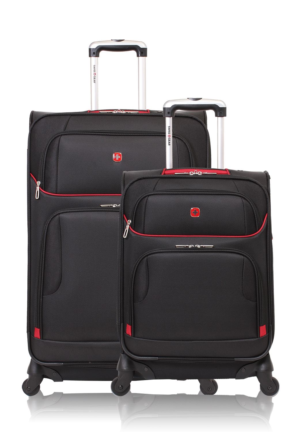 SWISSGEAR 7317 Expandable Spinner Luggage 2pc Set - Black/Red