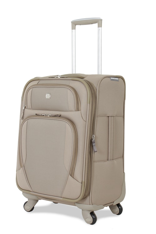 "SWISSGEAR 7353 20"" EXPANDABLE DELUXE SPINNER KHAKI LUGGAGE"