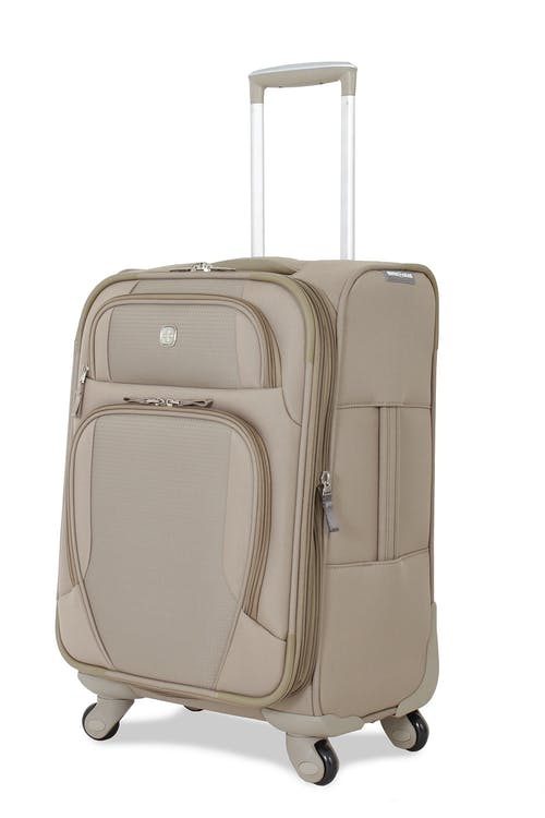 """SWISSGEAR 7353 19.5"""" EXPANDABLE DELUXE SPINNER KHAKI LUGGAGE"""