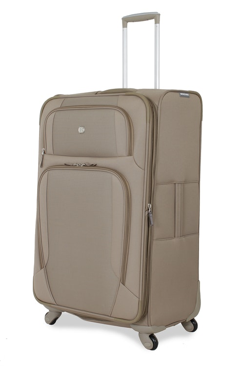 "SWISSGEAR 7353 28"" EXPANDABLE DELUXE SPINNER KHAKI LUGGAGE"