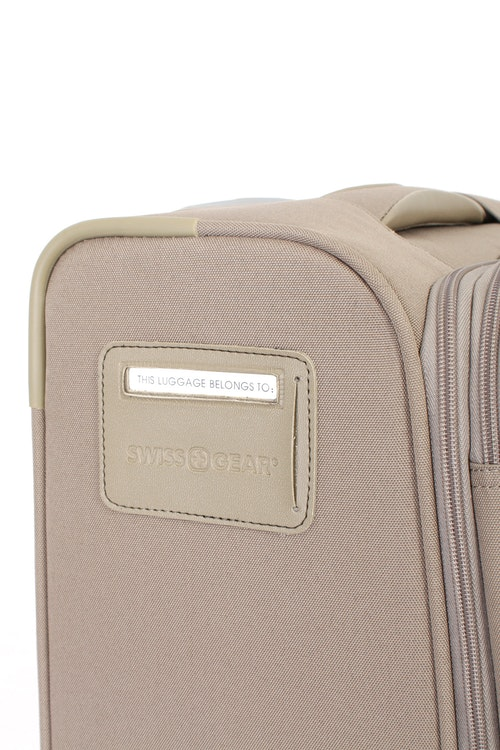 SWISSGEAR 7353 EXPANDABLE DELUXE SPINNER KHAKI LUGGAGE - INTEGRATED ID TAG