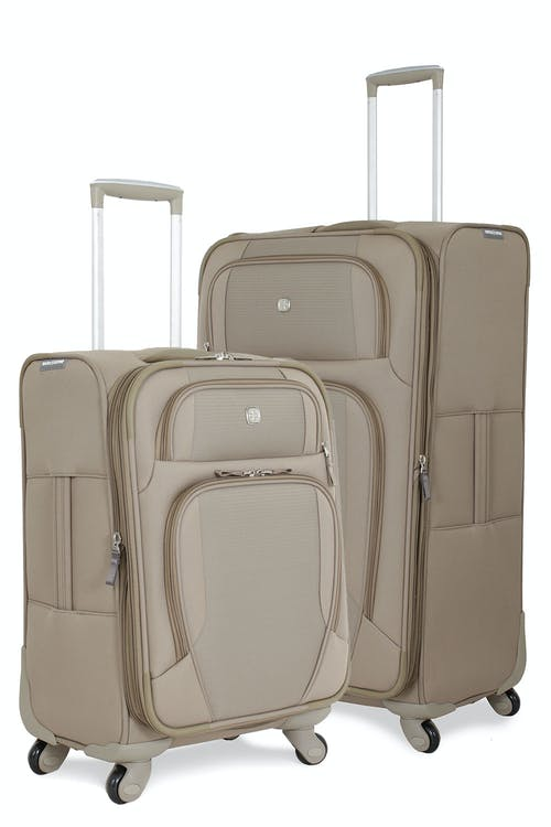 Swissgear 7353 Expandable Deluxe Spinner Luggage Set - Khaki