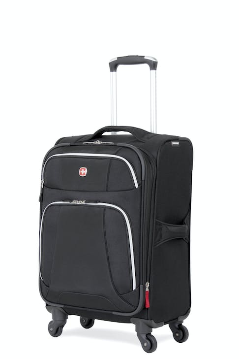 "SWISSGEAR 7362 20"" EXPANDABLE LITEWEIGHT CARRY-ON SPINNER LUGGAGE - BLACK"