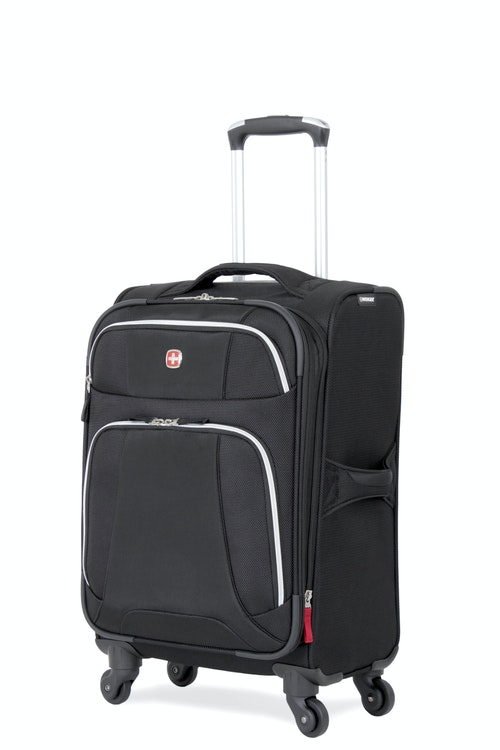 """SWISSGEAR 7362 20"""" EXPANDABLE LITEWEIGHT CARRY-ON SPINNER LUGGAGE - BLACK"""