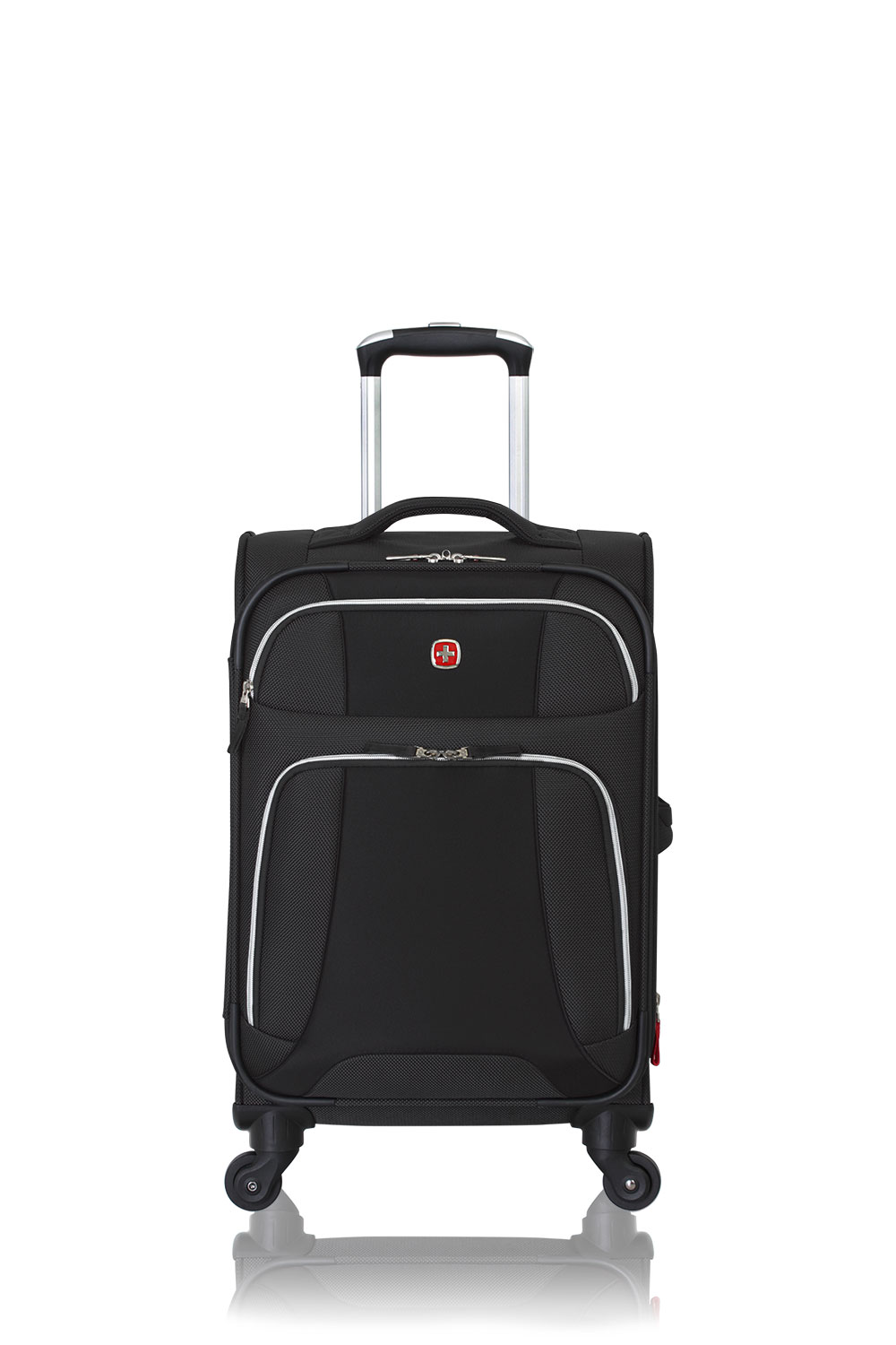 """SWISSGEAR 7362 20"""" Expandable Liteweight Carry-On Spinner - Black Luggage"""