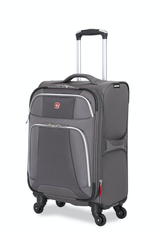 "SWISSGEAR 7362 20"" EXPANDABLE LITEWEIGHT CARRY-ON SPINNER LUGGAGE - GREY"
