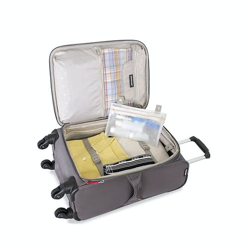 """SWISSGEAR 7362 20"""" EXPANDABLE LITEWEIGHT SPINNER LUGGAGE ADJUSTABLE TIE-DOWN STRAPS"""