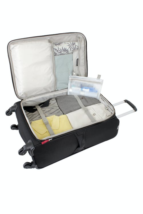 """SWISSGEAR 7362 24"""" EXPANDABLE LITEWEIGHT SPINNER LUGGAGE ADJUSTABLE TIE-DOWN STRAPS"""