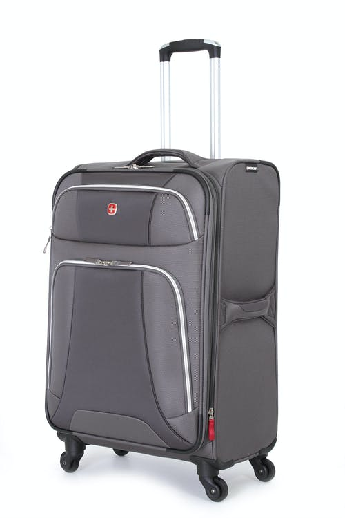 "SWISSGEAR 7362 24"" EXPANDABLE LITEWEIGHT SPINNER LUGGAGE - GREY"
