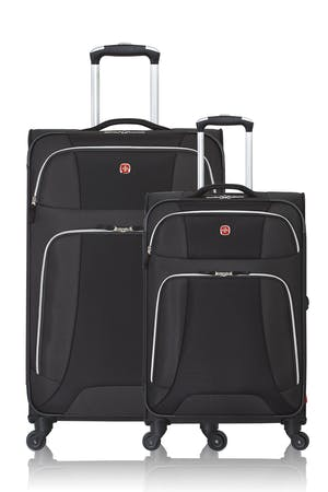 SWISSGEAR 7362 Expandable Liteweight Spinner Luggage 2pc Set - Black