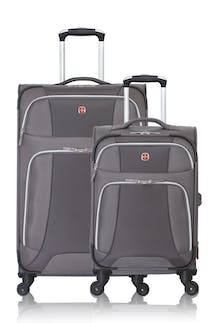 SWISSGEAR 7362 Expandable Liteweight Spinner Luggage 2pc Set - Gray