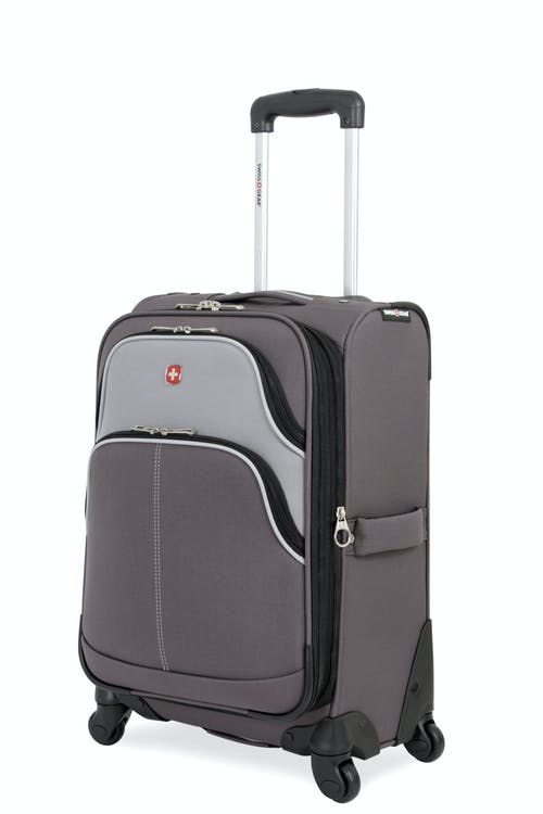 "Swissgear 7377 20"" Expandable Carry-On Spinner Luggage - Gray/Silver"