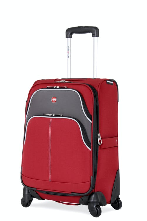 "Swissgear 7377 20"" Expandable Carry-On Spinner Luggage - Red/Gray"