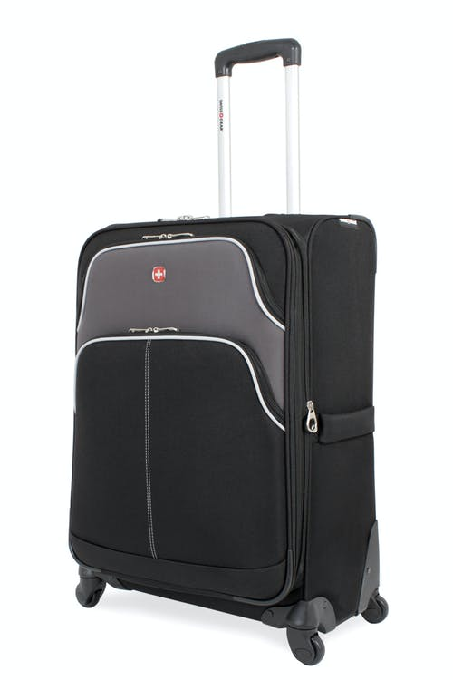 "SWISSGEAR 7377 24"" EXPANDABLE SPINNER LUGGAGE - BLACK/GRAY"
