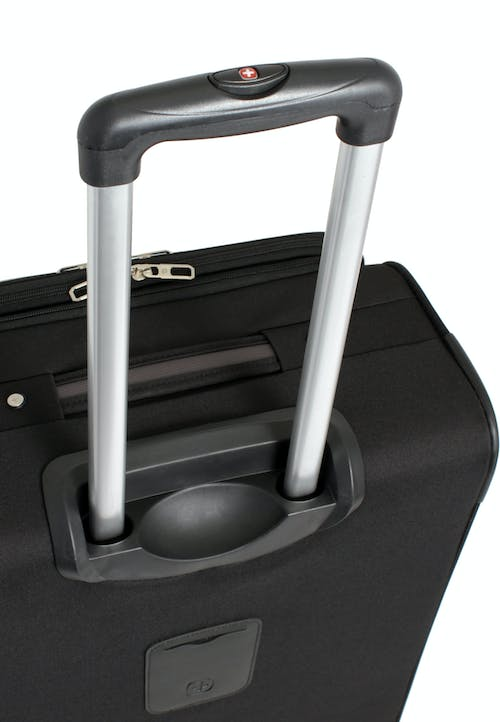 "SWISSGEAR 7377 24"" EXPANDABLE SPINNER LUGGAGE ALUMINUM TELESCOPIC PULL HANDLE"