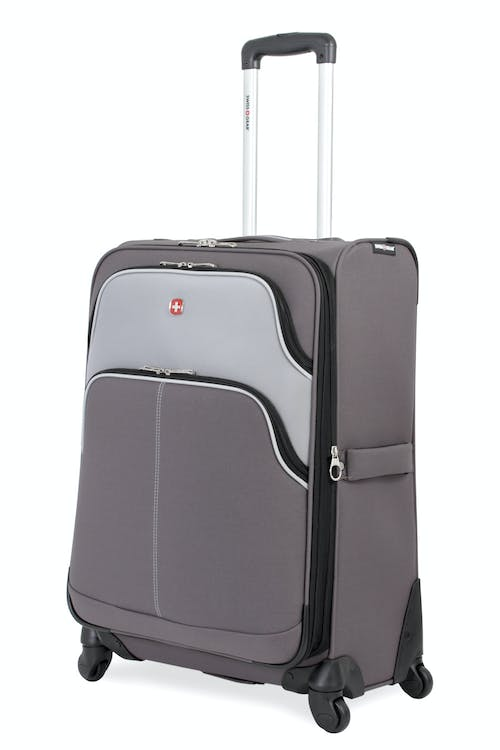 "SWISSGEAR 7377 24"" EXPANDABLE SPINNER LUGGAGE - GRAY/SILVER"