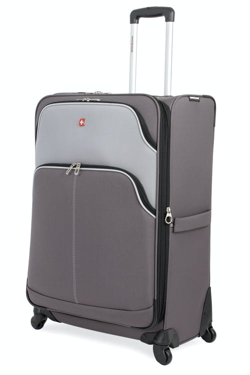 "Swissgear 7377 28"" Expandable Spinner Luggage - Gray/Silver"