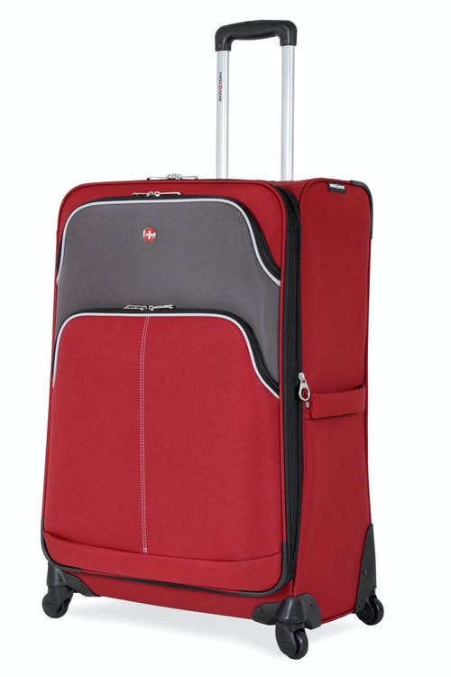 "Swissgear 7377 28"" Expandable Spinner Luggage - Red/Gray"