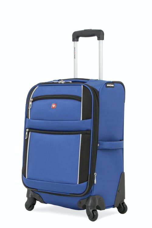 "Swissgear 7378 20"" Expandable Carry-On Spinner Luggage - Blue/Black"