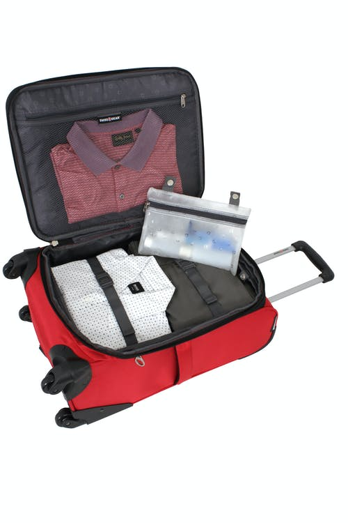 """SWISSGEAR 7378 20"""" EXPANDABLE CARRY-ON SPINNER LUGGAGE EXPANDABLE MAIN COMPARTMENT WITH ADJUSTABLE CLOTHING TIE-DOWN STRAPS"""