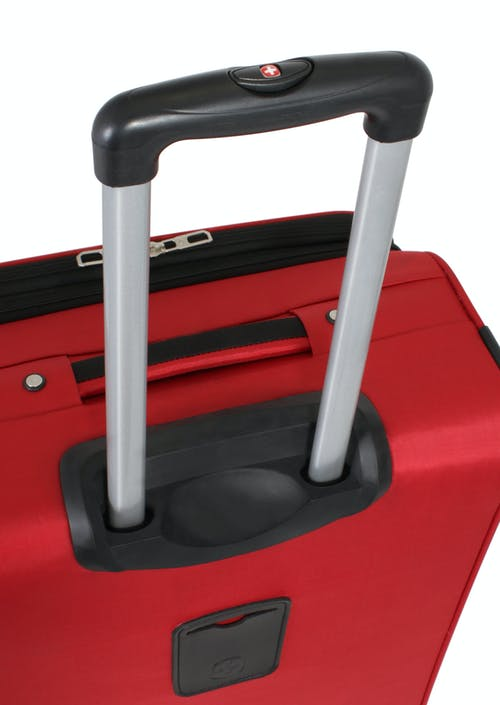"Swissgear 7378 20"" Expandable Carry-On Spinner Luggage Aluminum, push-button locking telescopic handle"