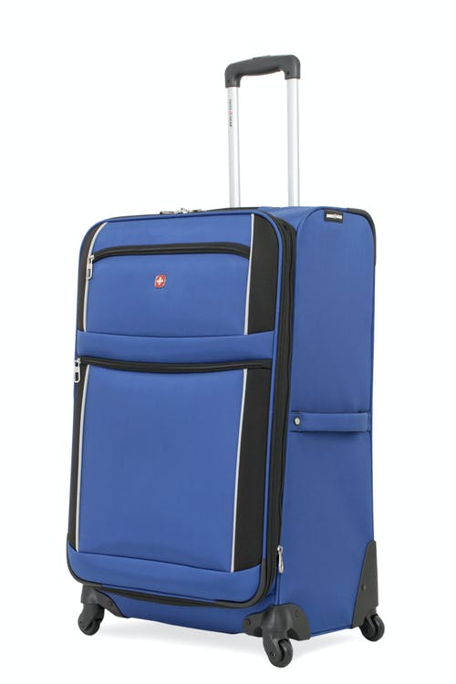 "SWISSGEAR 7378 24"" EXPANDABLE SPINNER LUGGAGE - BLUE/BLACK"