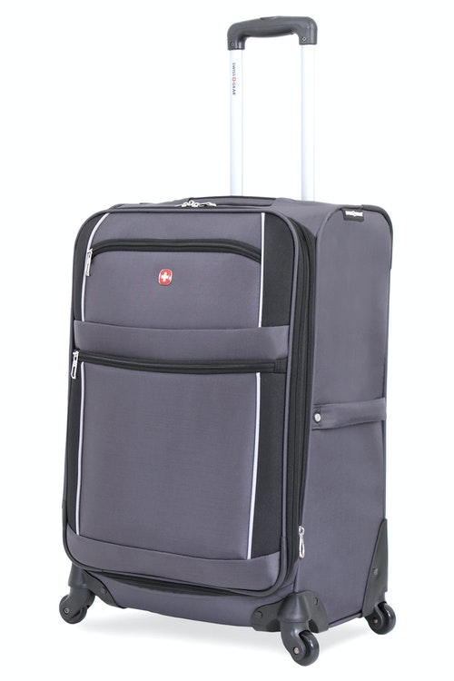 "SWISSGEAR 24"" EXPANDABLE SPINNER LUGGAGE - GREY/BLACK"
