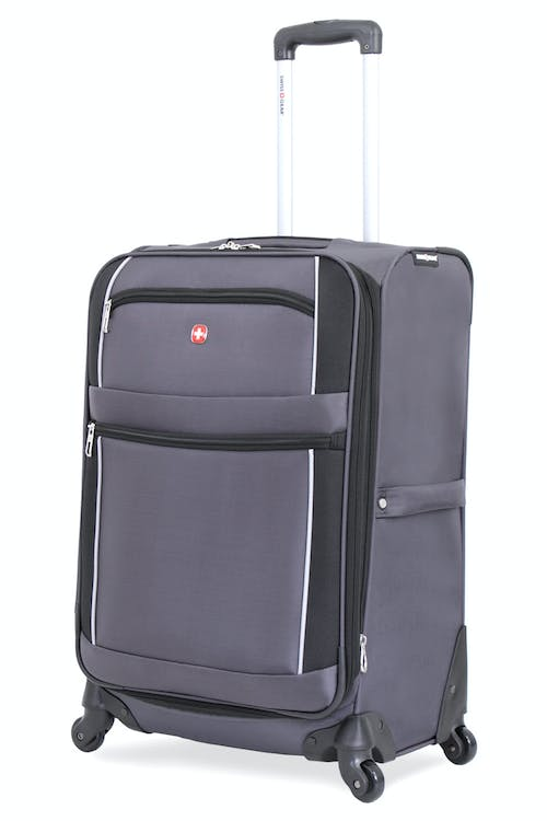"SWISSGEAR 7378 24"" EXPANDABLE SPINNER LUGGAGE - GREY/BLACK"
