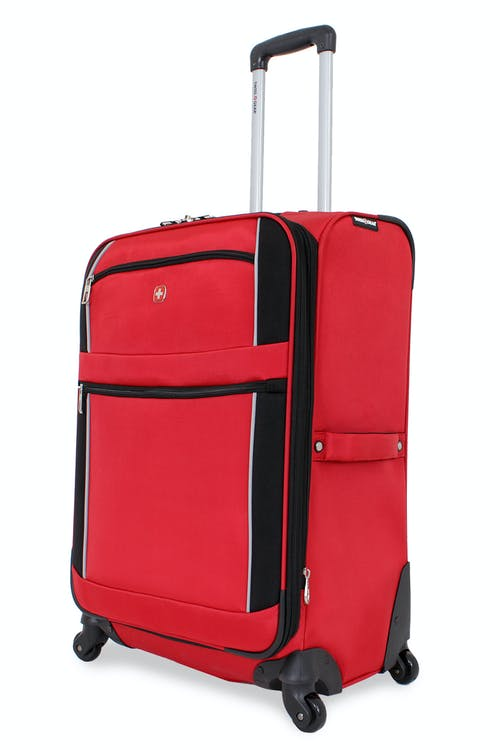 "SWISSGEAR 7378 24"" EXPANDABLE SPINNER LUGGAGE - RED/BLACK"