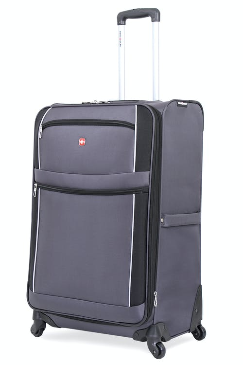 "SWISSGEAR 7378 28"" EXPANDABLE SPINNER LUGGAGE - GREY/BLACK"