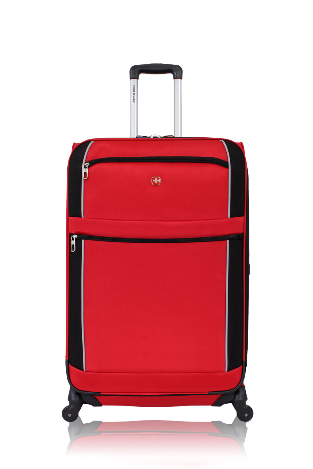 Swissgear 7317 28 Expandable Spinner Black Red Luggage