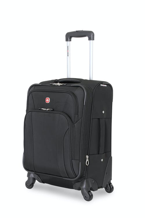 "SWISSGEAR 7387 20"" EXPANDABLE SPINNER LUGGAGE - BLACK"