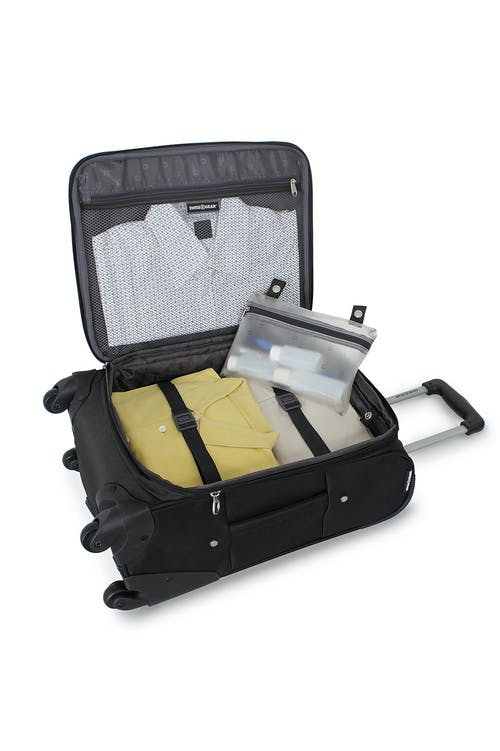 """SWISSGEAR 7387 27"""" EXPANDABLE SPINNER LUGGAGE ADJUSTABLE TIE-DOWN STRAPS"""