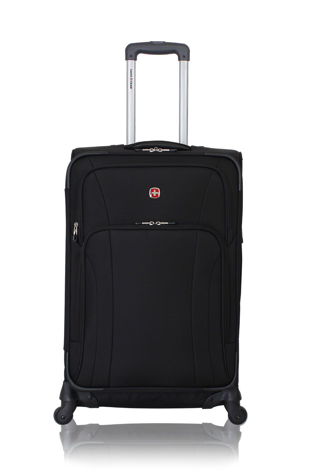 "SWISSGEAR 7387 24"" Expandable Spinner - Black Luggage"