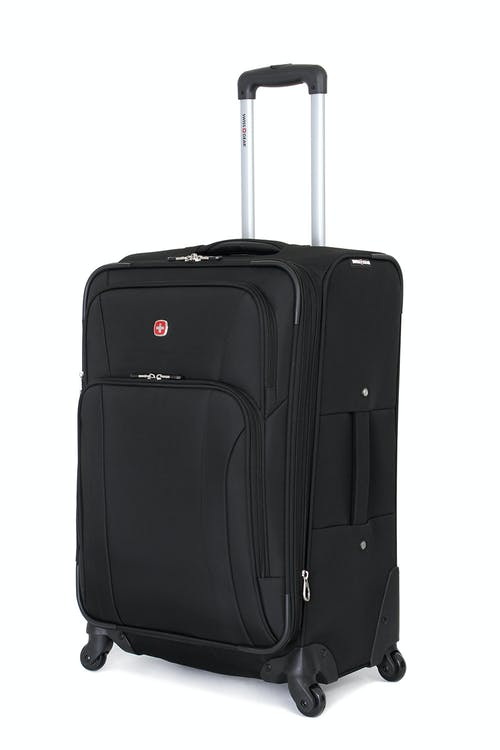 "Swissgear 7387 24"" Expandable Spinner Luggage - Black"