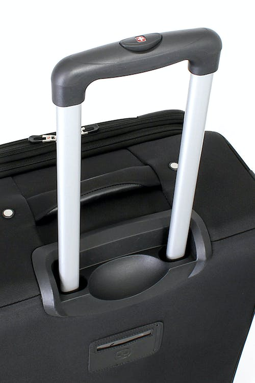 "SWISSGEAR 7387 24"" EXPANDABLE SPINNER LUGGAGE ALUMINUM, PUSH BUTTON LOCKING TELESCOPIC HANDLE"