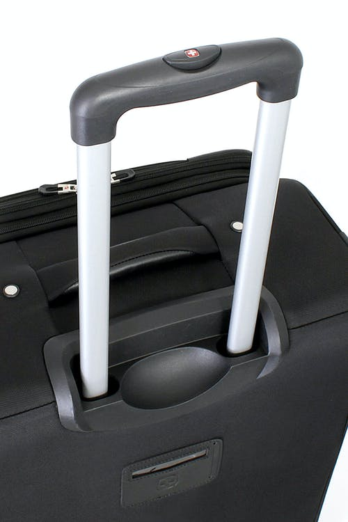 SWISSGEAR 7387 EXPANDABLE SPINNER LUGGAGE ALUMINUM, PUSH BUTTON LOCKING TELESCOPIC HANDLE