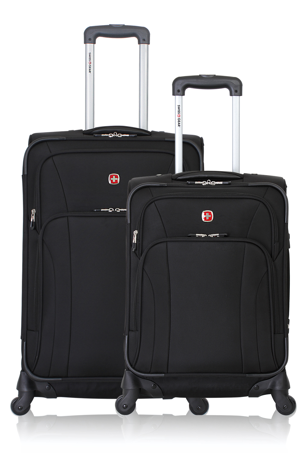 SWISSGEAR 7387 Expandable Spinner Luggage 2pc Set - Black