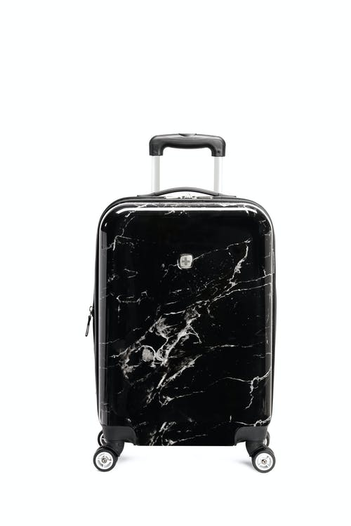 "Swissgear 7579 Marble 20"" Expandable Hardside Carry-On Luggage Retractable molded grab handle"