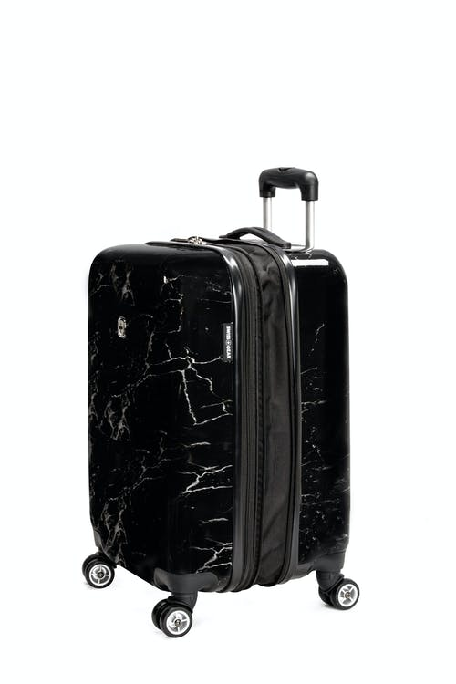 "Swissgear 7579 Marble 20"" Expandable Hardside Carry-On Expands for additional interior space"