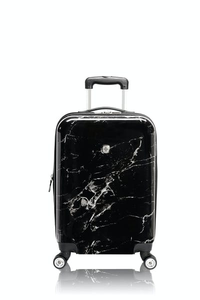 "Swissgear 7579 Marble 20"" Expandable Hardside Carry-On - Black"