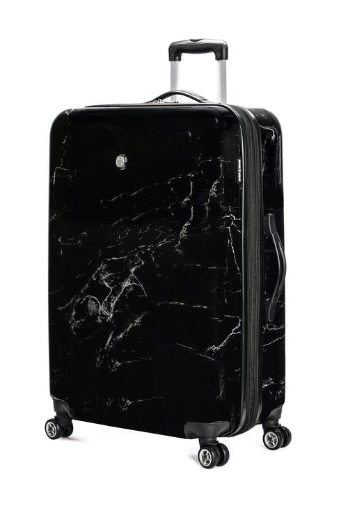 "Swissgear 7579 28"" Marble Expandable Hardside Spinner Luggage - Black"