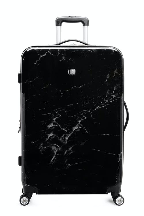 "Swissgear 7579 Marble 28"" Expandable Hardside Luggage ABS material"