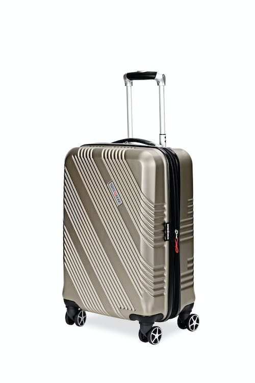 """Swissgear 7788 20"""" Expandable Carry On Hardside Spinner Luggage - Champagne"""