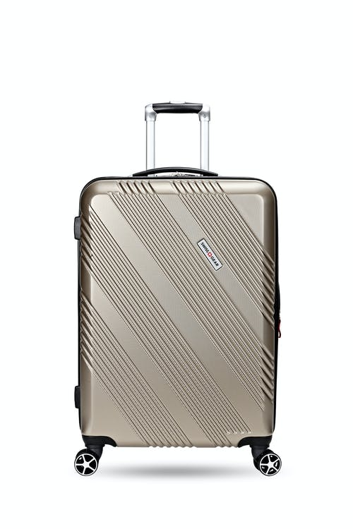 """Swissgear 7788 Expandable Hardside 24"""" Spinner Luggage soft rubber hand grips"""